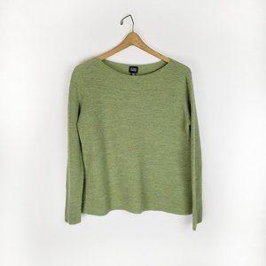 Eileen Fisher 100% wool nubby boxy sweater Medium